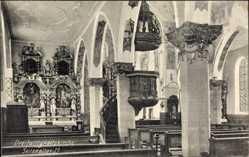 Postcard Konstanz am Bodensee, Blick in die Dreifaltigkeitskapelle, Seitenaltar
