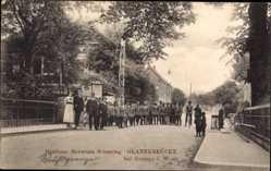 Postcard Gronau im Münsterland Westfalen, Gasthaus Germann Schmeing, Glanerbrücke