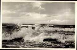 Ak Ostseebad Berg Dievenow Pommern, Seestimmung, Blick auf das Meer