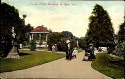 Postcard Halifax Nova Scotia Kanada, in the Public Gardens, Kinderwagen