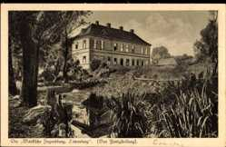Postcard Löwenberg im Kreis Oberhavel, Märkische Jugendburg und Teich
