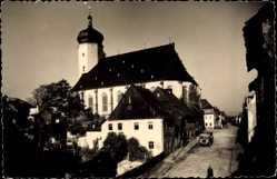 Postcard Marienberg im Erzgebirge Sachsen, Seitenansicht von der Kirche
