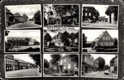 Postcard Wittmund in Niedersachsen, Freidenstraße, Mittelschule, Kreishaus