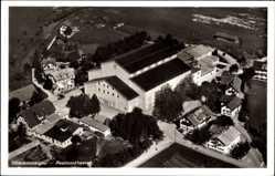 Postcard Oberammergau in Oberbayern, Fliegeraufnahme, Passionstheater