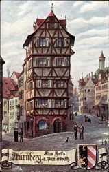 Künstler Ak Nürnberg in Mittelfranken Bayern, Altes Haus am Paniersplatz