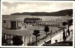 Postcard Binz auf Rügen, Blick auf den Konzert Platz, Strandanlagen