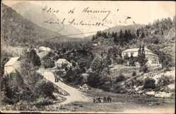 Postcard Valle de Aran Katalonien, Frontera de Francia e Espana