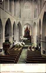 Ak Schivelbein Pommern, Innenansicht der Marienkirche
