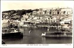 Postcard Mevagissey South West England, view from Polvirt Hill