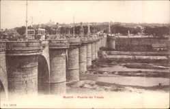 Postcard Madrid Spanien, Puente de Toledo, Brücke, Straßenbahn