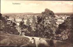 Postcard Trollhättan Schweden, Gesamtansicht des Ortes vom Berg aus