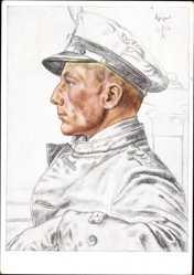 Künstler Ak Willrich, Wolfgang, Kapitänleutnant Otto Schuhart, U Boot