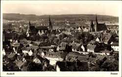 Postcard Ansbach in Mittelfranken Bayern, Totalansicht der Ortschaft, Kirche