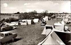 Postcard Glücksburg an der Ostsee, Blick auf den Campingplatz Holnis, Zelte