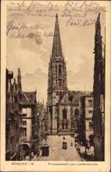 Postcard Münster in Westfalen, Prinzipalmarkt und Lambertikirche