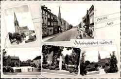 Postcard Bettrath Mönchengladbach in Nordrhein Westfalen, Kirche, Kreuz, Straßenpartie