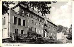 Postcard Tecklenburg in Nordrhein Westfalen, Seitenansicht vom Genesungsheim