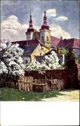 Künstler Ak Prof. Havlicek, J., Olomouc Olmütz Stadt, Kostel P. Marie Snezne
