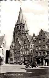 Postcard Warendorf in Nordrhein Westfalen, Blick auf den Markt