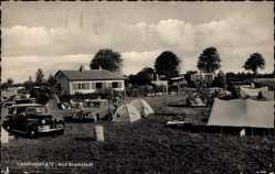 Postcard Bad Bramstedt im Kreis Segeberg, Campingplatz, Zelte, Bungalow