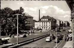 Postcard Neumünster in Schleswig Holstein, Verkehr am Kuhberg