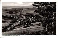 Postcard Fredeburg in Holstein, Gesamtansicht vom Berg aus gesehen