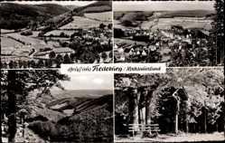 Postcard Fredeburg im Hochsauerland, Hotel Fredeburger Hof, Gesamtansicht, Kreuz