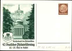 Briefmarken Ak Kassel, 43. Deutscher Philatelistentag, Wilhelmshöhe, KdF Sammler