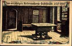 Künstler Litho Kallista, Wittenberg, Luthers Wohnstube, Ref. Jubiläum 1917