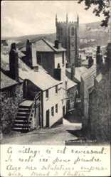 Postcard St. Ives South West England, Church, Barmoon Hill, Kirche, Straßenpartie