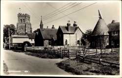 Postcard Wittersham South East England, street, church, tower, houses