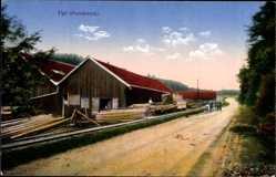 Ak Val et Chatillon Meurthe et Moselle, Blick auf ein Sägewerk, Forstwirtschaft