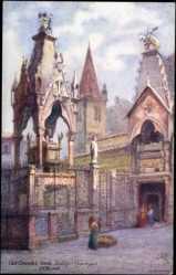 Künstler Ak Verona Veneto, Can Grande's Tomb, Scalsigeri Church, Tuck 7990
