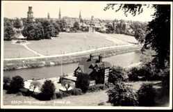 Ak Shrewsbury West Midlands England, Blick auf den Ort, Pavillon, Judges 23675