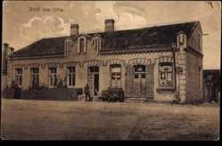 Postcard Olita Litauen, Blick auf ein Wohn und Geschäftshaus, Straßenpartie