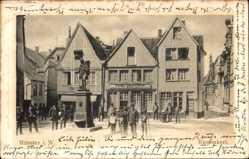 Postcard Münster in Westfalen, Ansicht vom Kiepenkerldenkmal