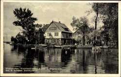 Postcard Steinhude Wunstorf in Niedersachsen, Strandkaffee, Segelbooteverleih