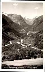 Postcard Bergen Norwegen, Videsaeter, Nordfjord, Blick ins Tal