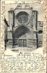 Postcard Arragona Katalonien Spanien, La Catedral, Portal der Kathedrale