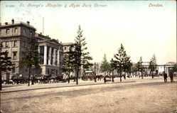 Postcard London City, St Georges Hospital and Hyde Park Corner