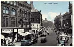 Postcard Leeds Yorkshire, Boar Lane, F. C. Milnes, C. Rubber