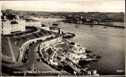 Postcard Plymouth South East, Hoe from Smeatons Tower, Fluss, Straße