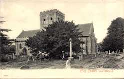 Postcard Iffley South East England, Iffley Church, Friedhof