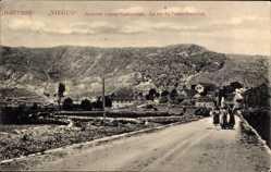Postcard Niegus Montenegro, La rue du Palais Erakovici