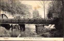 Postcard Einbeck in Niedersachsen, Krumme Wasser mit Blick auf Festungsturm