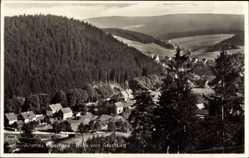 Ak Altenau im Oberharz, Blick auf die Ortschaft vom Grasstieg