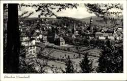 Postcard Attendorn im Sauerland, Blick auf den Ort mit Kirche