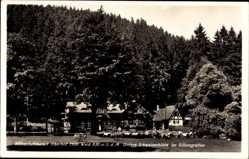 Postcard Oberhof im Thüringer Wald, Untere Schweizerhütte im Silbergraben