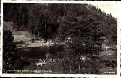 Postcard Rohrbach im Thüringer Wald, Blick auf das Waldbad Aue