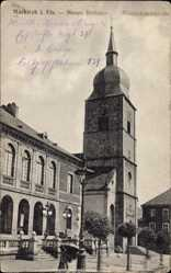 Postcard Sainte Marie aux Mines Markirch Elsaß Haut Rhin, Rathaus, Magdalenenkirche